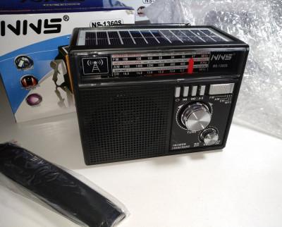 Радиоприёмник NNS NS-1360S FM Радио с солнечной батареей