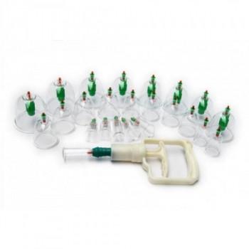Массажные вакуумные банки 24 шт. с насосом-вакууматором Kangling Vacuum Apparatus антицелюлитные безопасные
