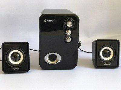 Компьютерные колонки Kisonli U-2100 Desktop Speaker 2.1 USB