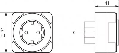 Розетка с электромеханическим таймером Theben Timer 26 (th0260030)