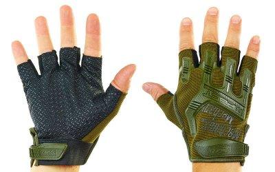 Перчатки тактические с открытыми пальцами MECHANIX BC-4926-L Оливковый L (MR03892)
