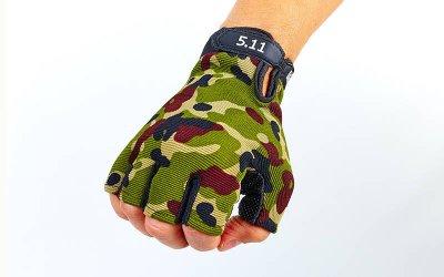 Перчатки тактические с открытыми пальцами 5.11 BC-4379 Камуфляж Multicam М (MR03860)