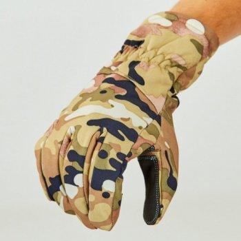 Перчатки для охоты, рыбалки и туризма теплые флисовые TY-0355 Камуфляж 2XL (MR03916)