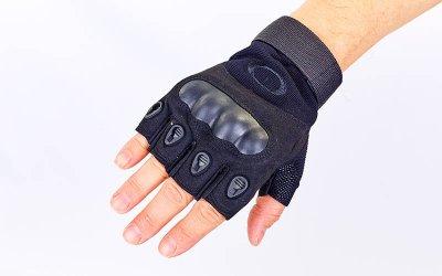 Перчатки тактические с открытыми пальцами и усил. протектор OAKLEY BC-4624 Черный XL (MR03930)