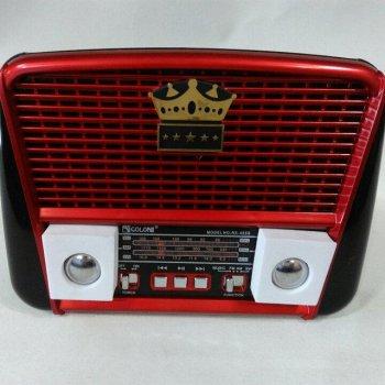 Портативна колонка MP3 USB Golon RX-455S Solar з сонячне панеллю Black-Red