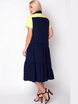 Плаття All Posa Вікторія 1345-2 Темно-синє з жовтим