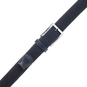 Ремень ALON P001 унисекс текстильный черный плетеный