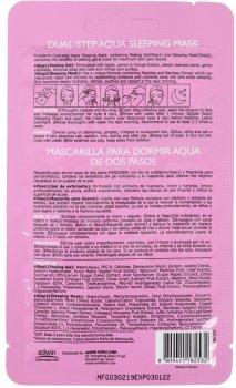 Двухступенчатая ночная маска Purederm Пептиды + Бамбук для глубокого увлажнения и питания (очищающий гель+ ночная маска) Dual-step Aqua Sleeping Mask Peptides&Bamboo 3 г+10 г (8809411182532)