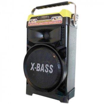 Акустична система NNS валізу комбік Bluetooth колонка підсилювач з мікрофоном Original Жовта (1388) TRG-7849