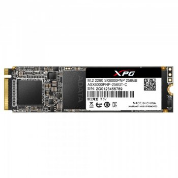 Накопичувач SSD A-DATA XPG SX6000 Pro 256GB M. 2 2280 PCI Express 3.0x4 3D NAND TLC (ASX6000PNP-256GT-C)