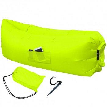 Надувной матрас-диван HPI 2,2 м с сумкой-чехлом Yellow