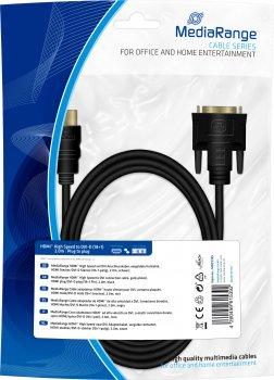 Кабель MediaRange для монитора HDMI to DVI-D(18+1) 2 метра (MRCS185)