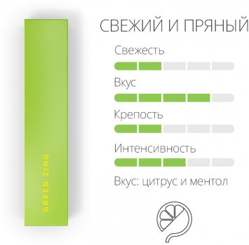 Блок стиків для нагрівання тютюну Heets Green Zing 10 пачок (7622100816928)
