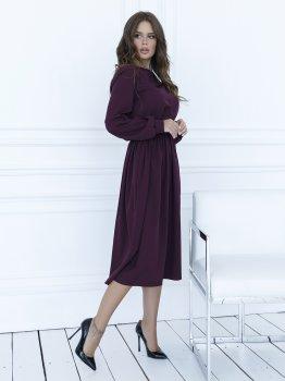Платье ISSA PLUS 12094 Бордовое