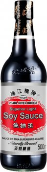 Соус соевый Pearl River Bridge Светлый Superior натурального брожения 500 мл (6921180820025)
