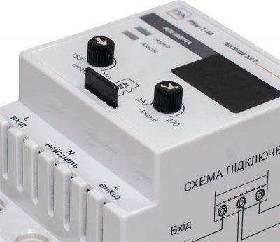 Реле напряжения Промавтоматика с регистратором 40A DIN РНм 140Х