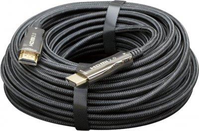 Кабель оптический Cablexpert HDMI-HDMI 20 м Черный (CCBP-HDMI-AOC-20M)
