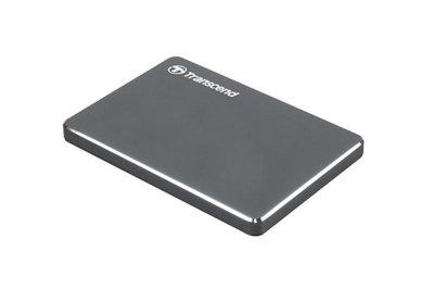 """Накопичувач зовнішній HDD 2.5"""" USB 2.0 TB Transcend StoreJet 25C3 Iron Gray (TS2TSJ25C3N)"""