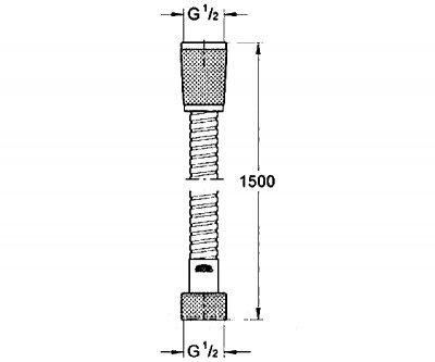Шланг для душа Grohe Relexaflex Metal (28105000)