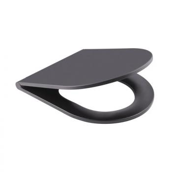 Унитаз подвесной черный мат Q-tap Robin BLA 2196 безободковый