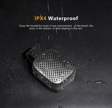 Колонка блютуз беспроводная водостойкая с встроенным микрофоном DOSS WB10 Mini black 5 Вт IPX4 Bluetooth 4.0