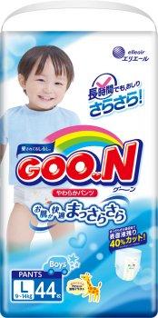 Трусики-підгузки GOO.N для хлопчиків 9-14 кг розмір L 132 шт. (853080-3) (4500006493074)