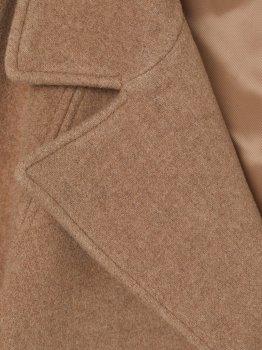 Пальто H&M 7867430 Темно-бежевий меланж