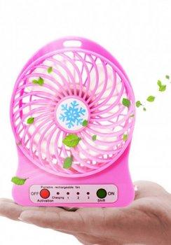 Мини-вентилятор Portable Fan Mini розовый
