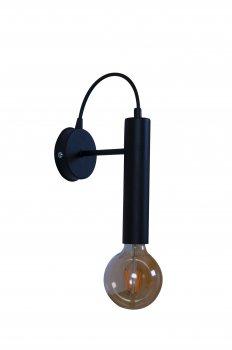 Бра Tubo mini black ... з ТМ MebelLoft 1xE27 в стилі Лофт чорний мат