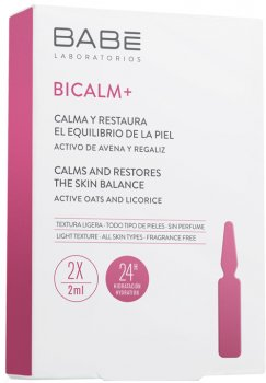 Ампулы-концентрат BABE Laboratorios Bicalm + Babe с антикуперозным действием и для снятия раздражения на коже 2 x 2 мл (8436571630384)