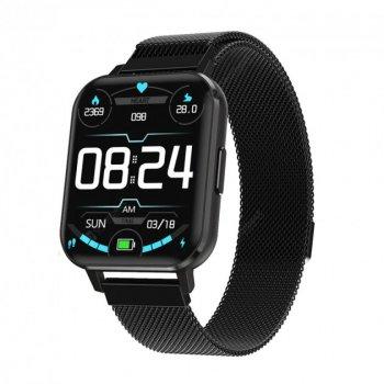 Смарт-годинник Smart Watch NO.1 DTX - S з тонометром, пульсоксиметром, ЕКГ з повнорозмірним дисплеєм 1.78 дюйма, Чорний (DTX 164386)