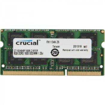 Модуль пам'яті для ноутбука SoDIMM DDR3L 8GB 1600 MHz MICRON (CT102464BF160B)