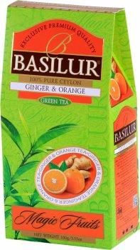 """Чай зеленый Basilur Магические фрукты """"Имбирь и апельсин"""" 100 г (4792252933484)"""