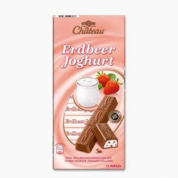 Шоколад молочный Chateau Erdbeer Joghurt 200 г