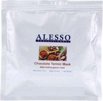 Альгинатная маска для лица Alesso термо-активная шоколадная омолаживающая 100 г (3273629010355)