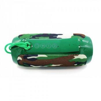 Портативна бездротова блютуз колонка T&G TG-117 SPEAKER 10 ВТ з флешкою радіо та слотом для карти Bluetooth 4.2 USB вологостійка Камуфляж (46132 I)
