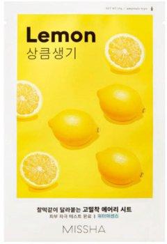 Маска для лица с экстрактом лимона Missha Airy Fit Sheet Mask Lemon 19 г (8809581454736)