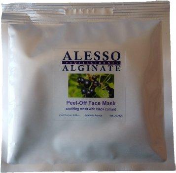 Альгинатная маска для лица Alesso с Черной Смородиной успокаивающая 25 г (3273629207175)