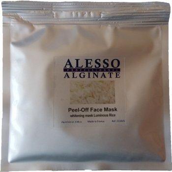 Альгинатная маска для лица Alesso с Рисом осветляющая 25 г (3273629211172)