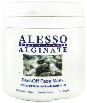 Альгинатная маска для лица Alesso с Морским Илом восстанавливающая и реминерализирующая 200 г (3273629210434)