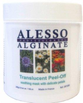Альгинатная маска для лица Alesso полупрозрачная с Нежными лепестками успокаивающая 200 г (3273629287436)