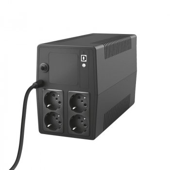 TRUST Paxxon UPS 1500VA with 4 standard wall power outlets BLACK (23505_TRUST)