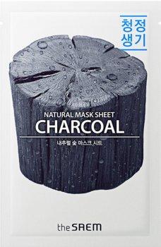 Тканевая маска с древесным углем The Saem Natural Charcoal Mask Sheet 21 мл (8806164159019)