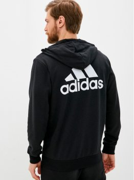 Толстовка Adidas M Bl Ft Fz Hd GK9044 Black/White