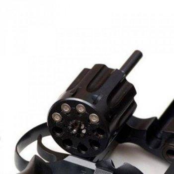 """Револьвер флобера Alfa mod.441 4"""" 4 мм №7. Воронение. Пластик ц:черный"""