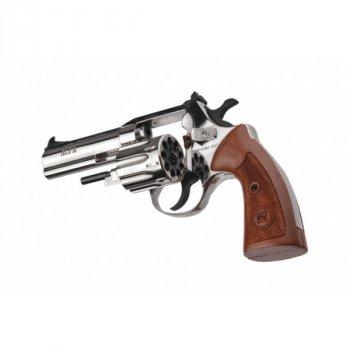 """Револьвер флобера Alfa mod.441 4"""" 4 мм №9. Никель. Дерево"""