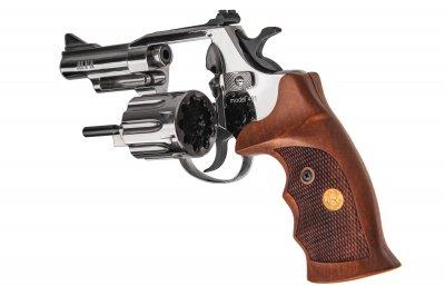 """Револьвер флобера Alfa mod.431 3"""" 4 мм №2. Никель. Дерево"""