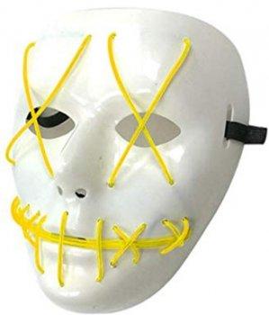 Неоновая маска для вечеринок с подсветкой UFT LED Mask 1 Yellow