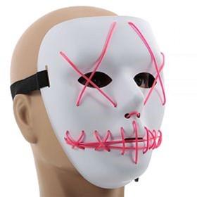 Неоновая маска для вечеринок с подсветкой UFT LED Mask 1 Pink