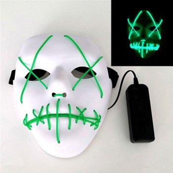 Неоновая маска для вечеринок с подсветкой UFT LED Mask 1 Green
